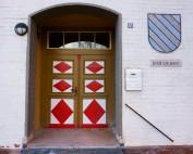 Eingangstür zur Gemeindebücherei