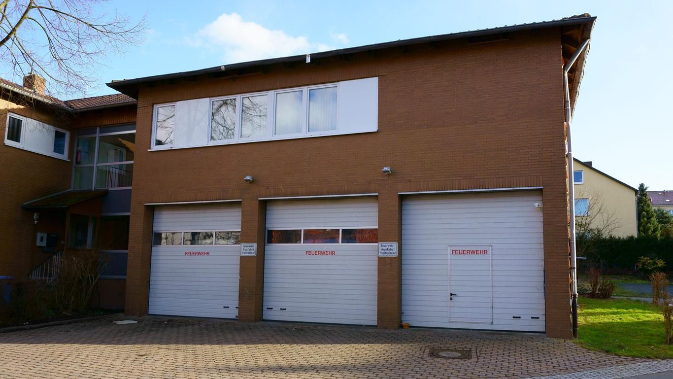 Außenansicht des Gebäudes der Freiwilligen Feuerwehr Bilshausen