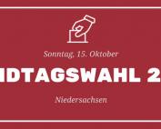 Landtagswahl 2017 Niedersachsen - Banner