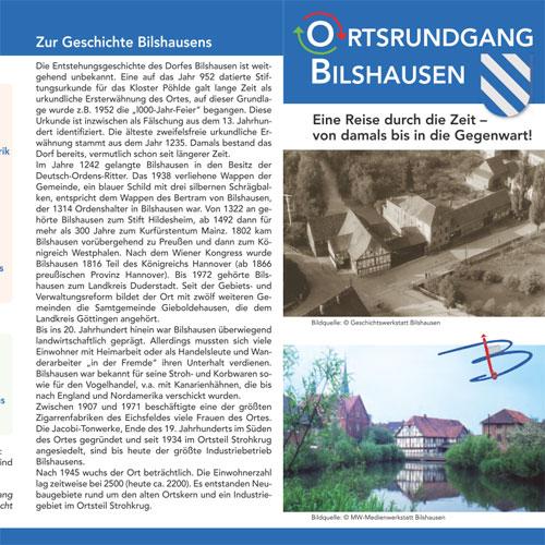 Flyer Ortsrundgang Bilshausen
