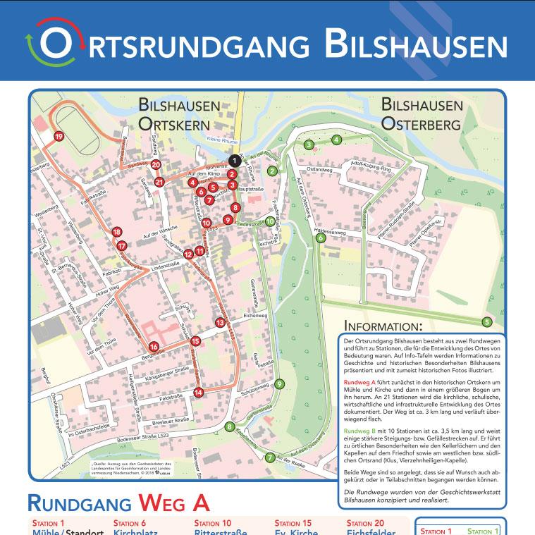 Übersichtstafel Ortsrundgang Bilshausen
