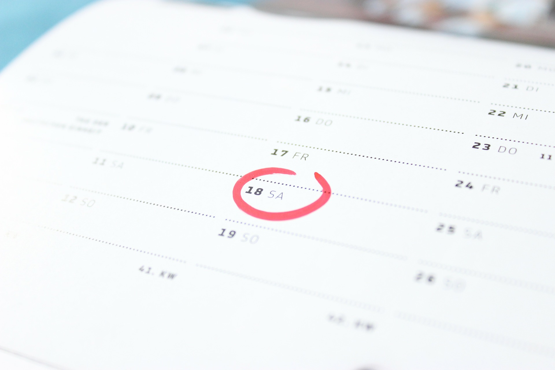 Kalender (Symbolbild) Foto: Pixabay