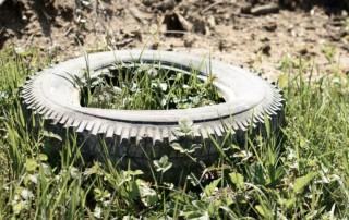 Müllablagerung in der Feldflur (Symbolbild)
