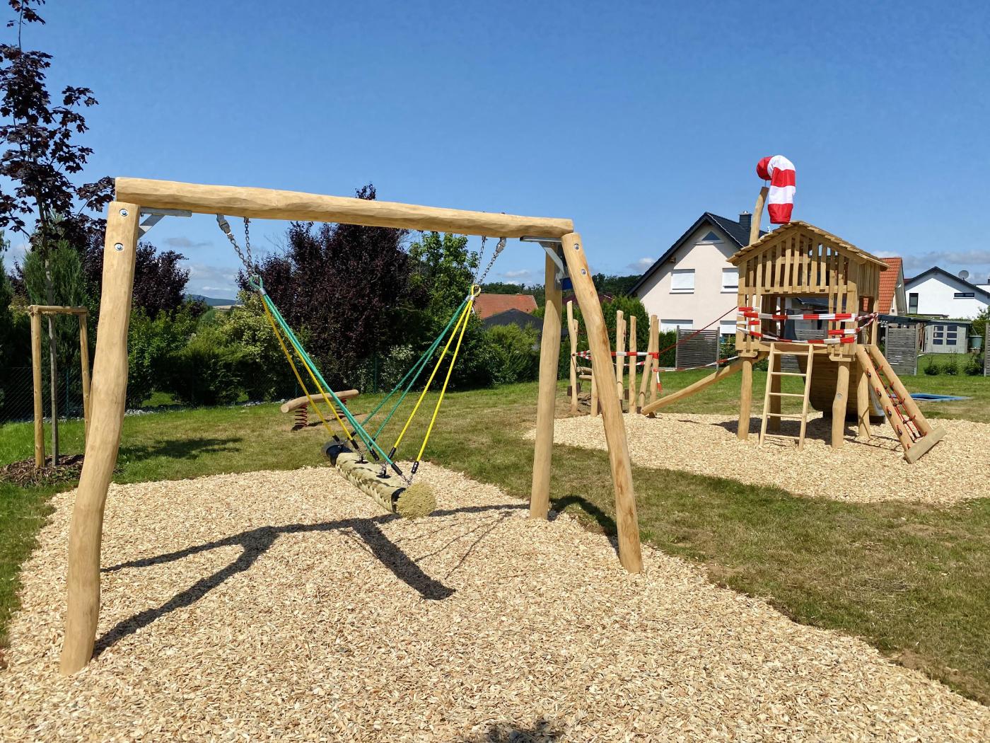 Spielplatz An der Reeke ehrenamtlich errichtet
